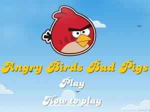Онлайн игра Злые птицы, плохие свиньи (Angry Birds Bad Pigs) (изображение №1)