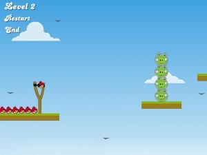 Онлайн игра Злые птицы, плохие свиньи (Angry Birds Bad Pigs) (изображение №2)