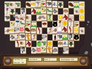 Онлайн игра Маджонг с животными (Animal Mahjong) (изображение №2)