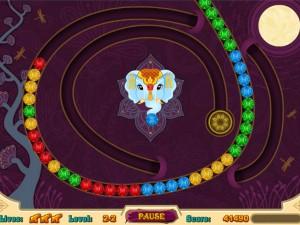 Онлайн игра Волшебные индийские шарики Зума (Mystic India Pop) (изображение №5)