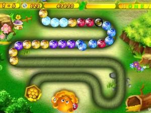 Онлайн игра Хани Трабл Zuma (Honey Trouble) (изображение №4)