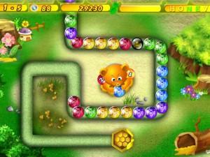 Онлайн Хани Трабл игра Zuma (Honey Trouble) (изображение №5)