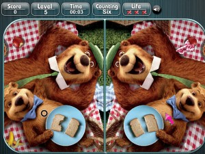 Медведь Йоги, найди разницу