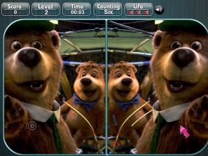 Онлайн игра Медведь Йоги, найди разницу (Yogi Bear Spot the Difference) (изображение №3)