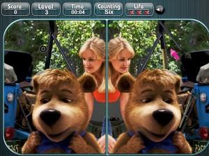 Онлайн игра Медведь Йоги, найди разницу (Yogi Bear Spot the Difference) (изображение №4)