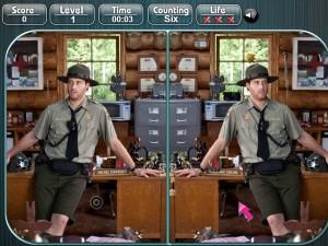 Онлайн игра Медведь Йоги, найди разницу (Yogi Bear Spot the Difference) (изображение №5)