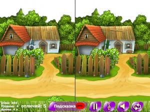 Найди пять отличий: деревня