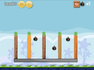 Онлайн игра Бомбардировка плохих свинок (Angry Birds Bomb) (изображение №4)