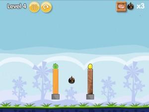 Онлайн игра Бомбардировка плохих свинок (Angry Birds Bomb) (изображение №6)