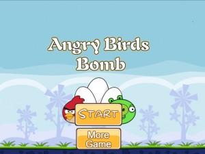 Онлайн игра Бомбардировка плохих свинок (Angry Birds Bomb) (изображение №1)