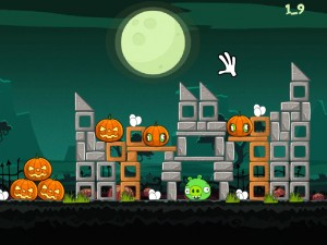 Онлайн игра Хэллоуин злых птичек (Angry Birds Halloween) (изображение №2)