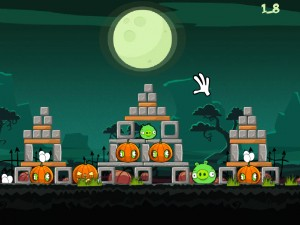 Онлайн игра Хэллоуин злых птичек (Angry Birds Halloween) (изображение №3)