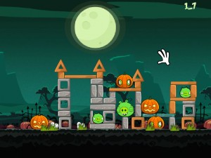 Онлайн игра Хэллоуин злых птичек (Angry Birds Halloween) (изображение №5)