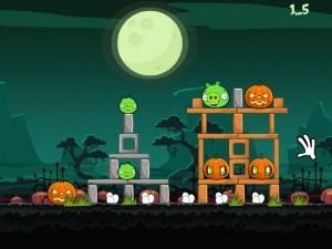 Онлайн игра Хэллоуин злых птичек (Angry Birds Halloween) (изображение №6)
