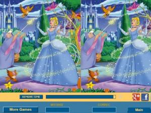 Онлайн игра Найди отличия вместе с Золушкой (Cinderella Difference) (изображение №1)
