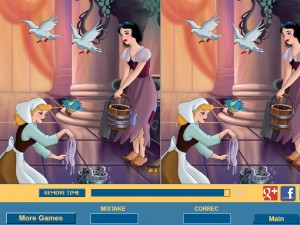 Онлайн игра Найди отличия вместе с Золушкой (Cinderella Difference) (изображение №2)