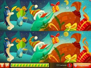 Онлайн игра Пингвины Санты (Santa Penguin) (изображение №2)
