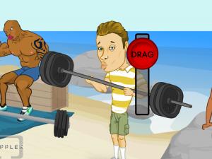 Онлайн игра Слабак в пляжной качалке (Douchebag - Beach Club) (изображение №3)