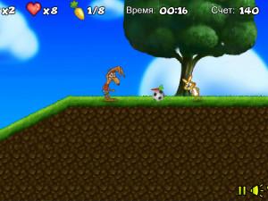 Онлайн игра Забавный кролик в лесу (Crazy rabbit) (изображение №5)