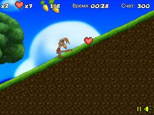 Онлайн игра Забавный кролик в лесу (Crazy rabbit) (изображение №6)