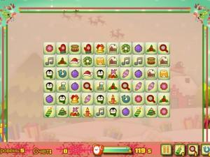 Игра Новогодний маджонг: соедини пары онлайн
