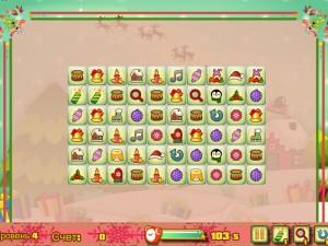 Онлайн игра Новогодний маджонг: соедини пары онлайн (Christmas Mahjong Connect pairs) (изображение №2)