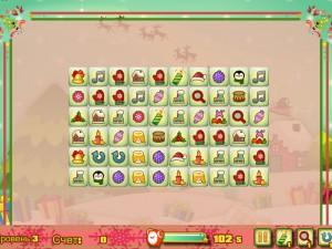 Онлайн игра Новогодний маджонг: соедини пары онлайн (Christmas Mahjong Connect pairs) (изображение №3)
