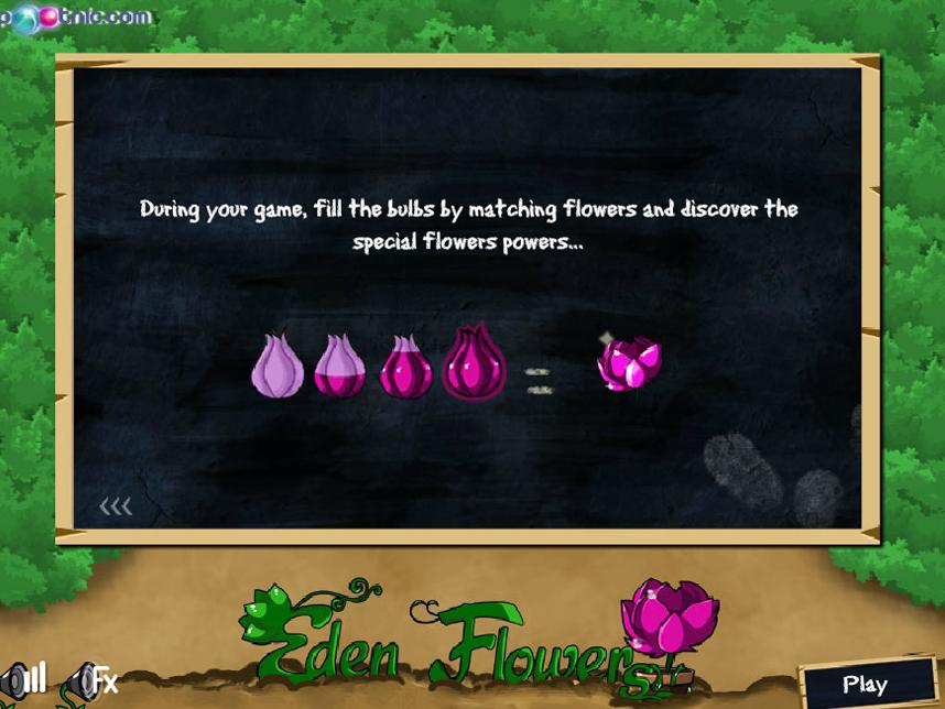 Играть онлайн цветы эдема