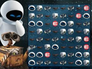 Онлайн игра Валли три в ряд (Wall-E The Video Game) (изображение №3)