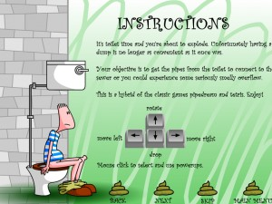 Онлайн Игра Туалетный тетрис (Pootris Plumber) (изображение №6)