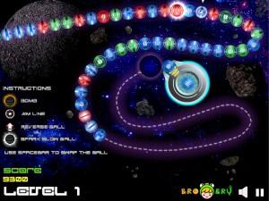Онлайн игра Космические Шары Зума (Space Ball Blaster) (изображение №5)