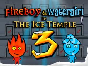 Онлайн игра Огонь и Вода 3: В Ледяном храме (Fireboy and Watergirl 3: In The Ice Temple) (изображение №1)