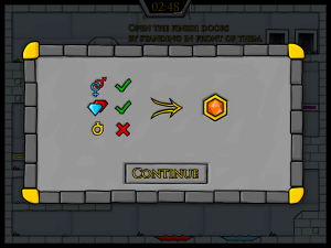 Онлайн игра Огонь и Вода 3: В Ледяном храме (Fireboy and Watergirl 3: In The Ice Temple) (изображение №5)