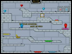 Онлайн игра Огонь и Вода 3: В Ледяном храме (Fireboy and Watergirl 3: In The Ice Temple) (изображение №3)