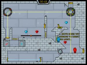 Онлайн игра Огонь и Вода 3: В Ледяном храме (Fireboy and Watergirl 3: In The Ice Temple) (изображение №2)