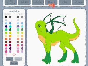 Раскраска Создай дракона