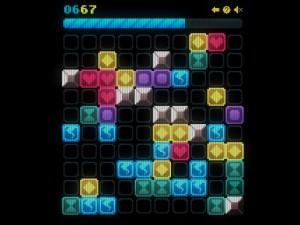 Онлайн игра Сияющие фигурки (Glow grid) (изображение №2)