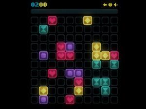 Онлайн игра Сияющие фигурки (Glow grid) (изображение №4)