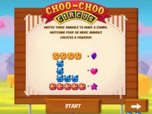Онлайн игра Проезжающий цирк (Choo-Choo Circus) (изображение №2)