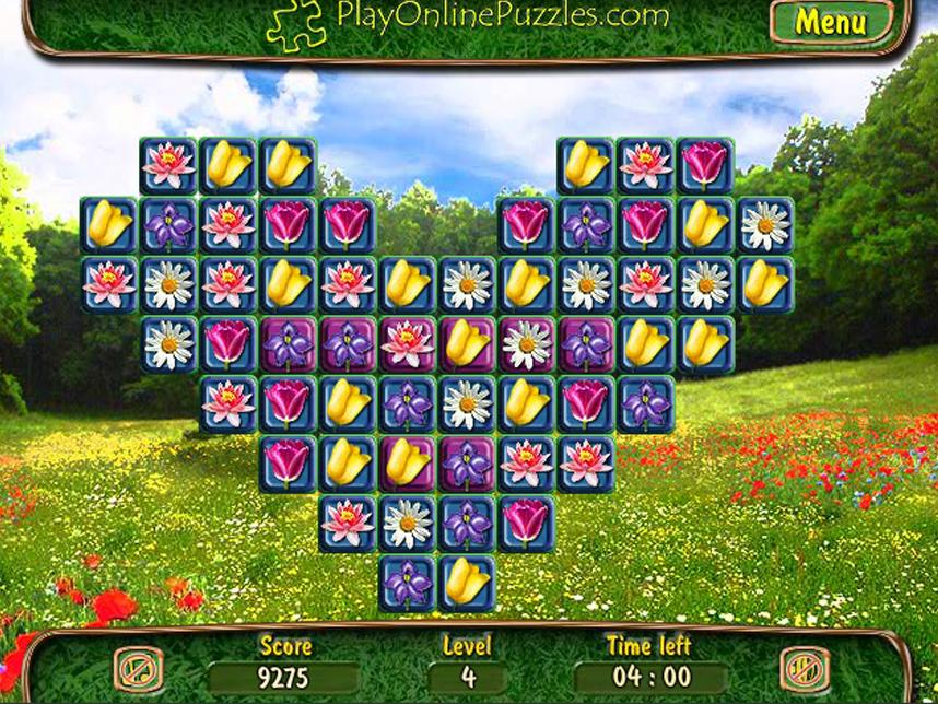 играть онлайн цветочек