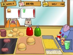 Онлайн Игра Губка Боб на работе (Spongebob Patty Dash) (изображение №2)