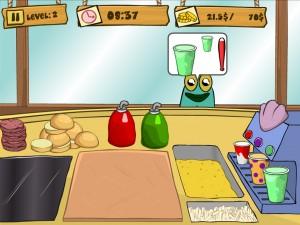 Онлайн Игра Губка Боб на работе (Spongebob Patty Dash) (изображение №3)