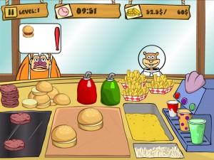 Онлайн Игра Губка Боб на работе (Spongebob Patty Dash) (изображение №4)