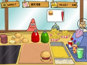Онлайн Игра Губка Боб на работе (Spongebob Patty Dash) (изображение №5)