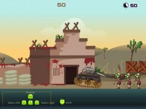 Онлайн Игра Танк против зомби (Zombie tank battle) (изображение №3)