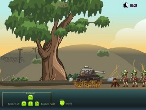Онлайн Игра Танк против зомби (Zombie tank battle) (изображение №4)