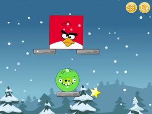 Онлайн Игра Злые птицы: Сбрось зеленых свиней (Angry Birds Throw green pigs) (изображение №2)