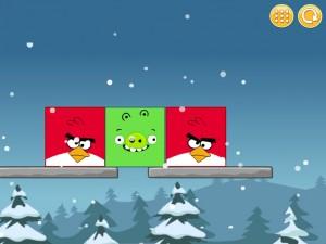 Онлайн Игра Злые птицы: Сбрось зеленых свиней (Angry Birds Throw green pigs) (изображение №3)