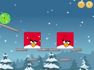 Онлайн Игра Злые птицы: Сбрось зеленых свиней (Angry Birds Throw green pigs) (изображение №4)