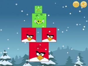 Онлайн Игра Злые птицы: Сбрось зеленых свиней (Angry Birds Throw green pigs) (изображение №5)
